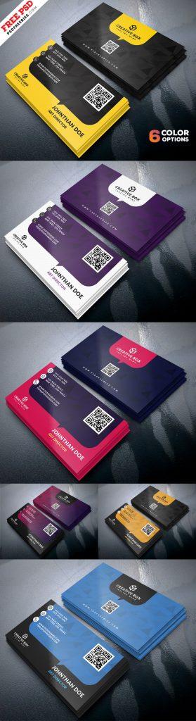 Free Business Cards Templates PSD Set