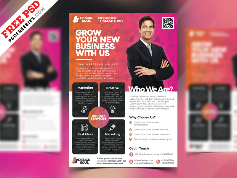 multipurpose corporate flyer design free psd psdfreebies com