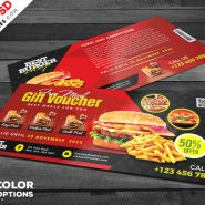 Restaurant Free Meal Voucher PSD Set