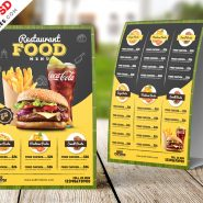 Restaurant Table Tent Food Menu Free PSD