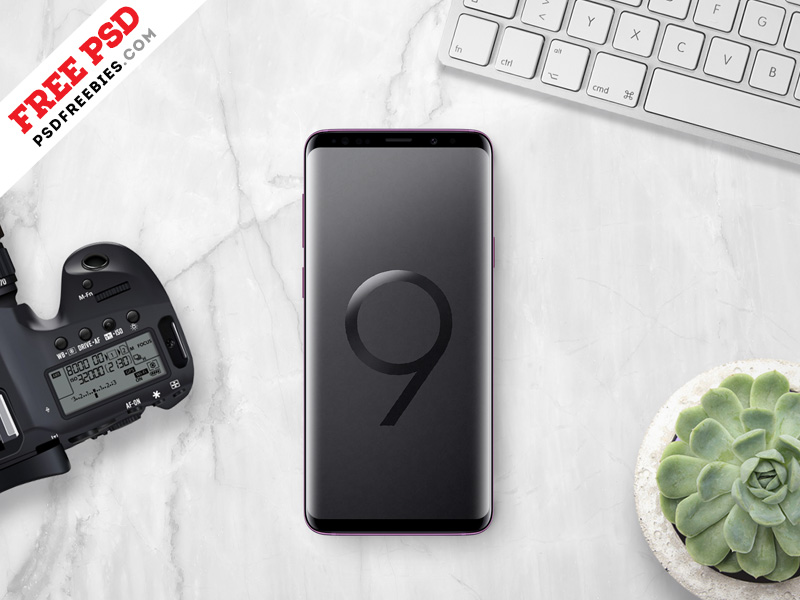 Samsung Galaxy S9 Plus Mockup Free PSD
