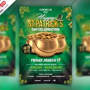 St. Patrick's Day Celebration Flyer Free PSD