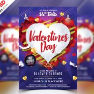 Valentines Day Flyer Free PSD Template