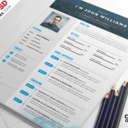4 Free Creative Resume PSD Set