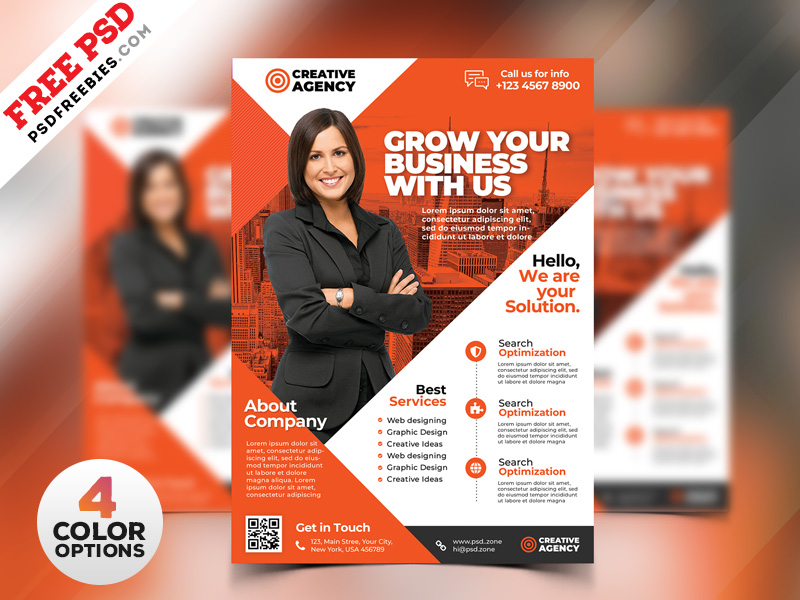 Business Flyer Design Templates PSD | PSDFreebies.com