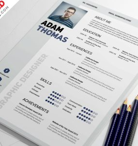 Clean Resume Design Template Free PSD