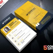 Corporate Business Cards Design Free PSD