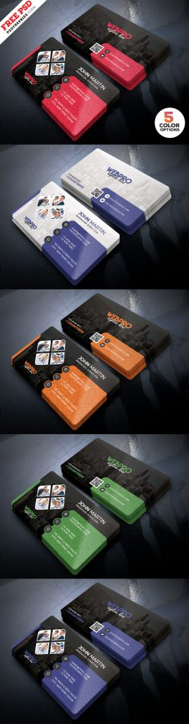 Corporate Business Cards Design PSD Set