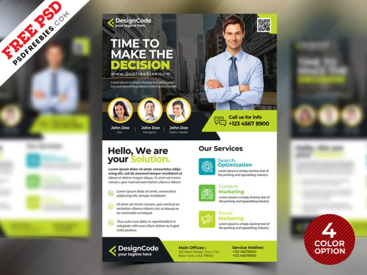 Corporate Flyer Design Templates Free PSD