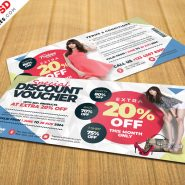 Discount Voucher Design Template PSD