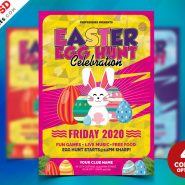 Easter Egg Hunt Flyer PSD Bundle