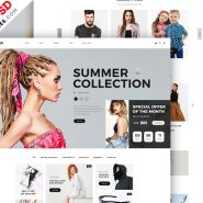 Fashion E-commerce Website Home Page PSD