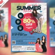 Fashion Sale Flyer Template PSD