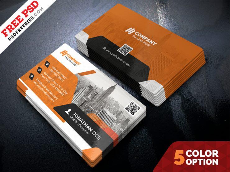 Free Business Cards PSD Bundle