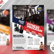 Gym Fitness Flyer Design PSD Bundle