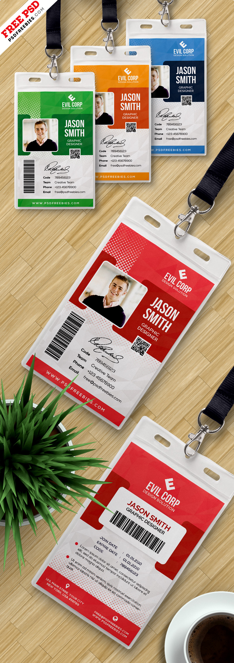 Identity Card Design PSD Templates Bundle