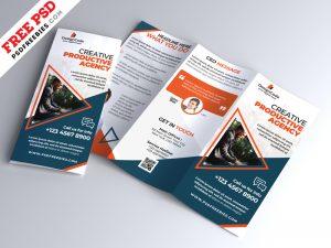 Multipurpose Tri-fold Brochure Design PSD