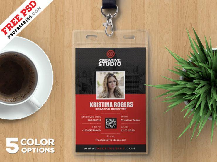 Office Identity Card Template PSD Bundle