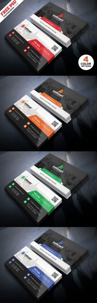 Business Card Design PSD Set