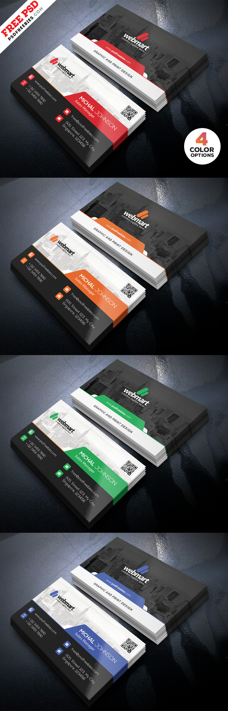 Business Card Design PSD Set