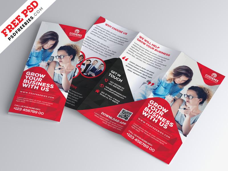 Business Tri Fold Brochure Template Design Psd Psdfreebies