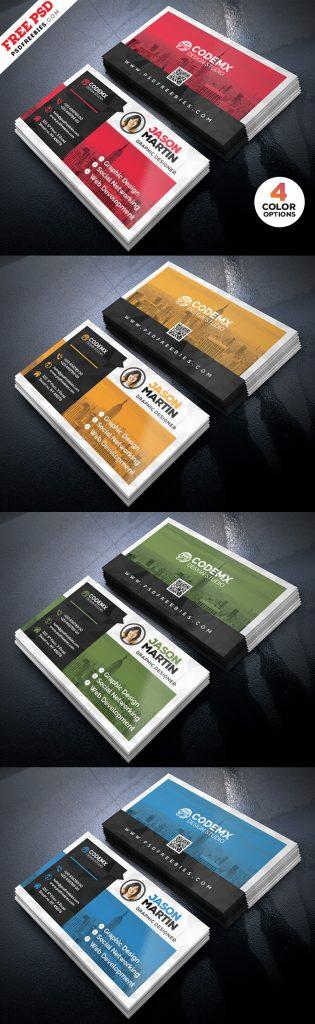 Clean Business Card Template PSD Bundle