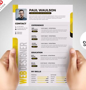 Designer Resume Template PSD Set