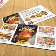 Food Voucher Design Template Free PSD