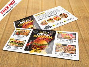Food Voucher Design Template Free PSD