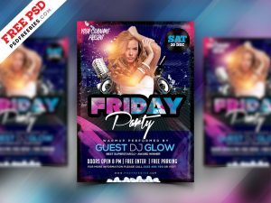 Night Club Party Flyer Design PSD Freebie