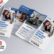 Professional A4 Tri-fold Brochure PSD Bundle