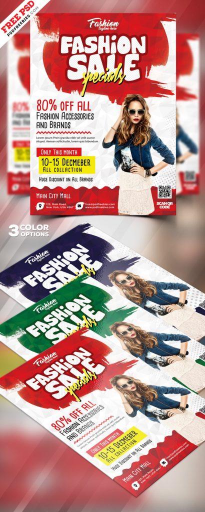 Season Sale Flyer Design PSD Bundle