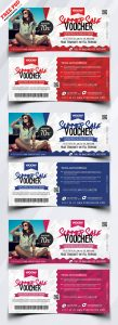 Summer Sale Discount Voucher Free PSD Bundle