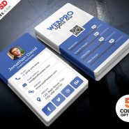 Vertical Business Card Template PSD Bundle