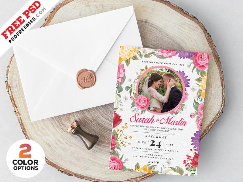 Wedding Invitation Card Design Psd Psdfreebies Com