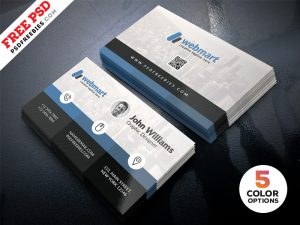 Creative Business Card Design Template PSD Set
