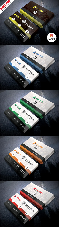 Creative Business Card Design Template PSD Set