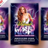 Free Party Flyer Design PSD Template