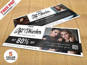 Gift Voucher Design Free PSD Bundle