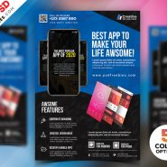 Mobile App Flyer Design PSD Bundle