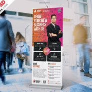 Multipurpose Roll-up Banner Design PSD