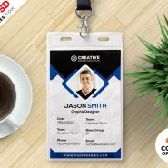 Office ID Cards Design Free PSD