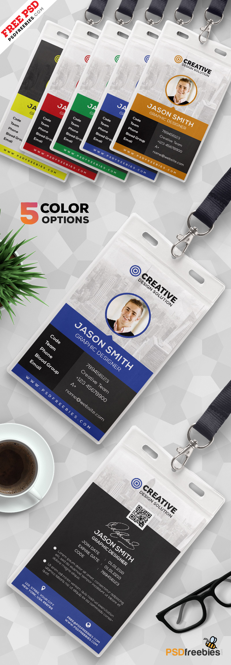 Office Identity Card Design PSD