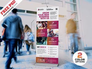 Outdoor Advertising Roll-up Banner PSD Bundle