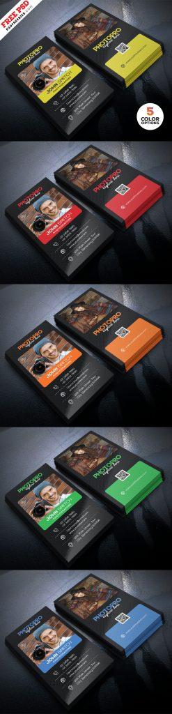 Photography Business Card Design PSD Bundle