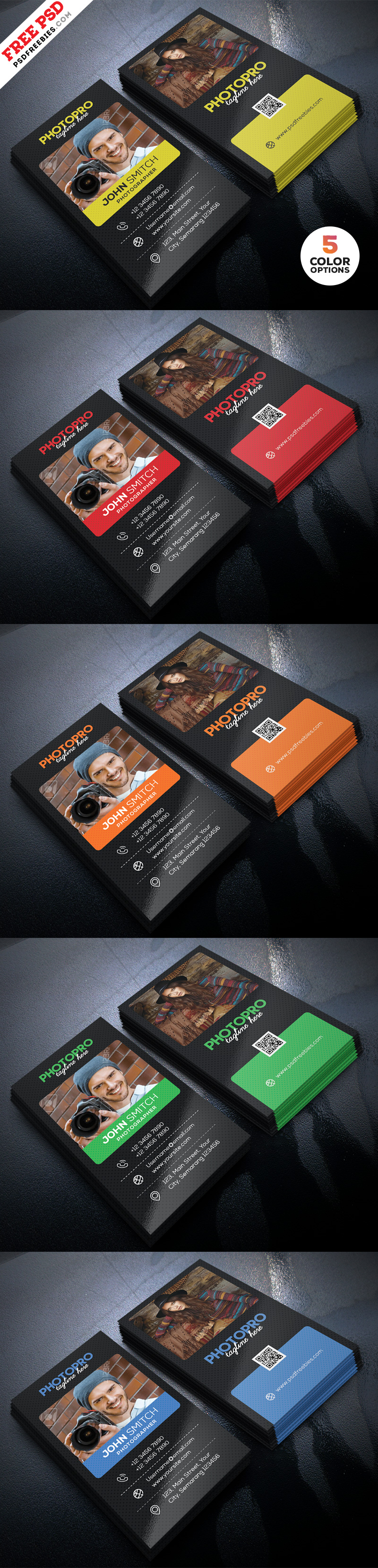 Photography Business Card Design PSD Bundle