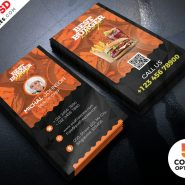 Restaurant Business Card Template PSD Bundle