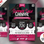 Summer Sale Flyer Design PSD Bundle