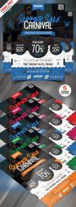 Summer Sale Flyer Design PSD Bundle