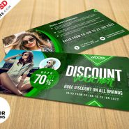 Apparel Discount Coupon PSD Set